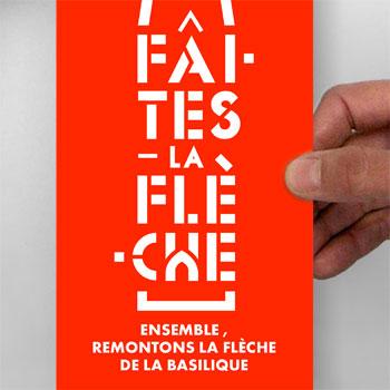 Faites la flèche ! – identité & installation, ville de Saint-Denis