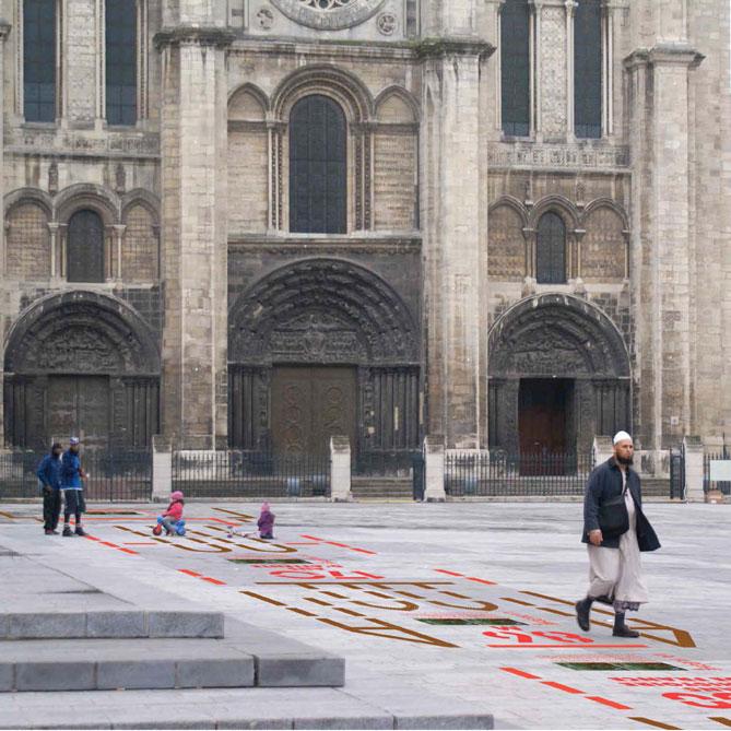 Faites la flèche ! – identité et installation – ville de Saint-Denis